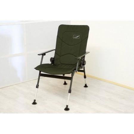 Luxusní skládací kempinková židle - teleskopické nohy