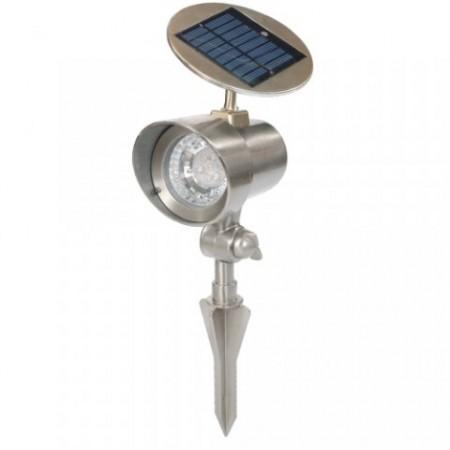 Zapichovací zahradní solární reflektor, 3 supersvítívé LED