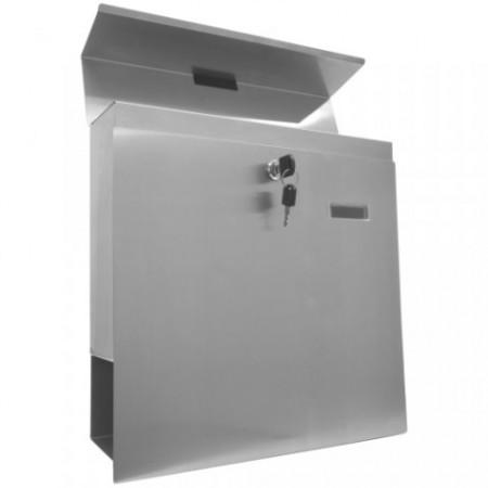 Nerezová poštovní schránka, montáž na stěnu