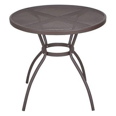 Zahradní kovový stůl kulatý, práškový lak