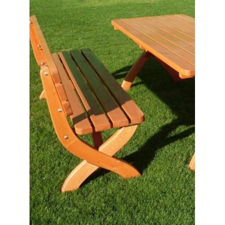 Dřevěná zahradní lavice z masivu, lakovaná borovice
