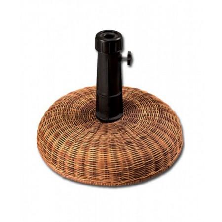 Kulatý stojan pod slunečník z umělého ratanu, 16 kg