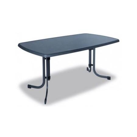 Obdélníkový kovový stůl, horní deska sevelit, 150 x 90 cm
