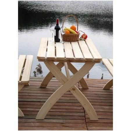 Zahradní dřevěný stůl z masivu - borovicové dřevo