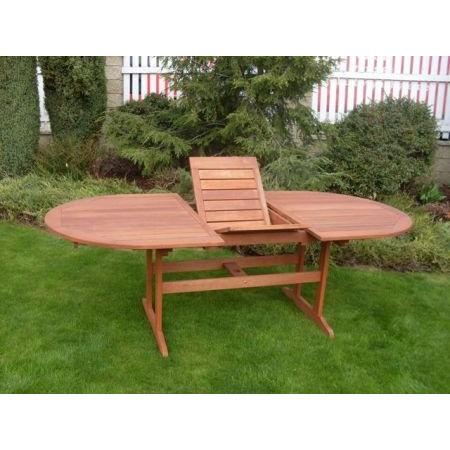 Velký dřevěný rozkládací stůl na zahradu, dřevo shorea