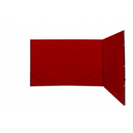 2 boční stěny k zahradním stanům Profi, bez oken, červené