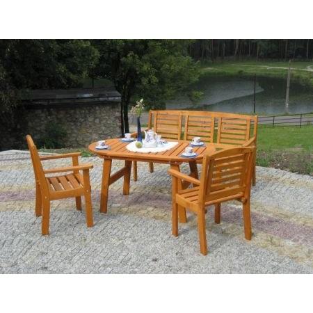 Zahradní dřevěný stůl z masivu - lakovaná borovice