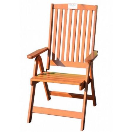 Skládací zahradní židle z masivu - borovicové dřevo