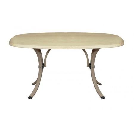 Elegantní zahradní stůl s horní deskou z verzailitu - champagne