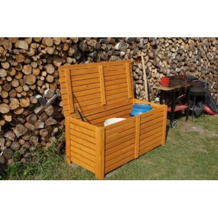 Zahradní dřevěný box s víkem