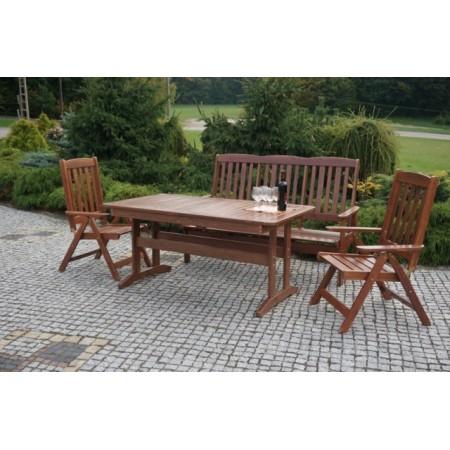 Venkovní obdélníkový stůl z masivu- lakovaná borovice