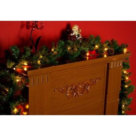 Vánoční osvětlená girlanda umělá 2,7 m, pro vnitřní použití