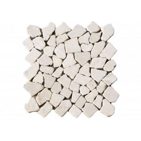 Obklad / dlažba z přírodního kamene - mozaika krémová, 1 m2
