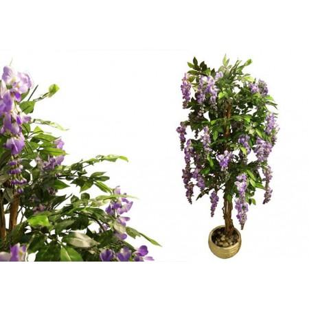 Umělá květina jako živá - Vistárie s fialovými květy 180 cm