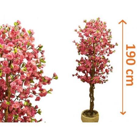 Umělý strom jako živý - rozkvetlá Třešeň 190 cm