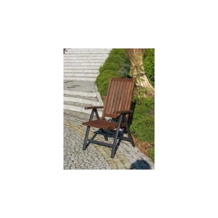 Dřevěné venkovní křeslo s hliníkovým rámem, úprava thermowood