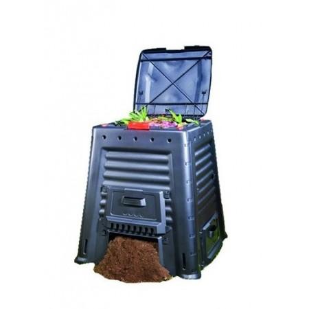 Velký plastový kompostér s dvířky ve spodní části 650 l