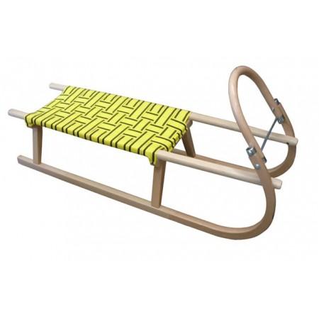 Dětské dřevěné sáně s kovovými lyžinami 110 cm