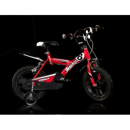 Dětské horské kolo s přídavnými kolečky, plastové ráfky 16