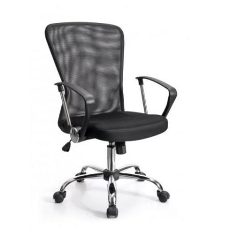 Elegantní otočná kancelářská židle - prodyšné opěradlo