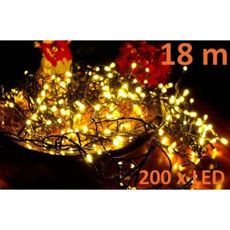Vánoční LED řetěz venkovní / vnitřní, teple bílá, 18 m