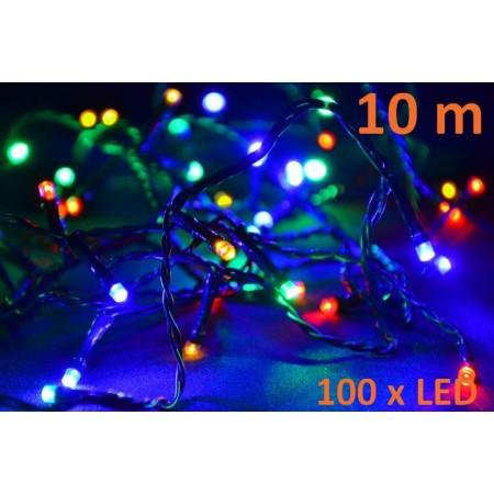 Barevné vánoční osvětlení na stromeček venkovní / vnitřní, 100 LED, 20 m