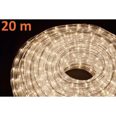 Světelný kabel s minižárovkami venkovní / vnitřní, teple bílá, 20 m