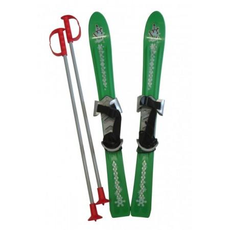 Plastové dětské lyže s vázáním a hůlkami 70 cm