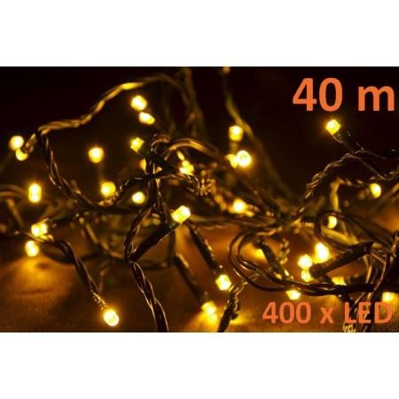 Vánoční řetěz s LED diodami venkovní / vnitřní, teple bílá, 40 m
