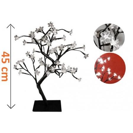 Ozdobný strom se svítícími květy do bytu i na zahradu, 45 cm