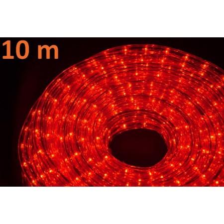 Světelný kabel s minižárovkami venkovní / vnitřní, červená, 10 m
