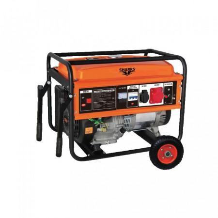 Benzinový generátor 5 kW, 230/380 V