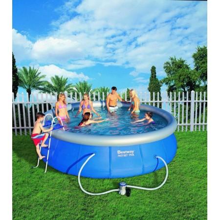 Zahradní bazén s nafukovacím kruhem 457 x 107 cm včetně filtrace