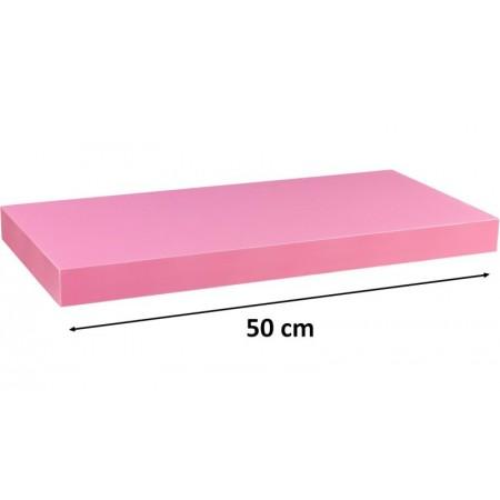 Moderní nástěnná police růžová, 50 cm