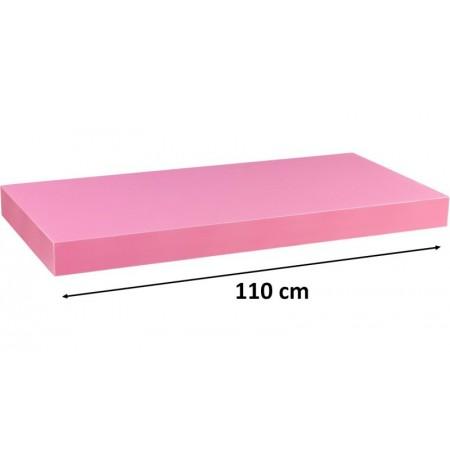 Moderní nástěnná police růžová, 110 cm