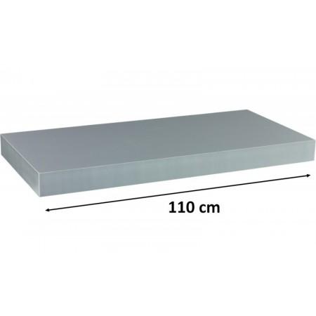 Moderní nástěnná police stříbrná, 110 cm