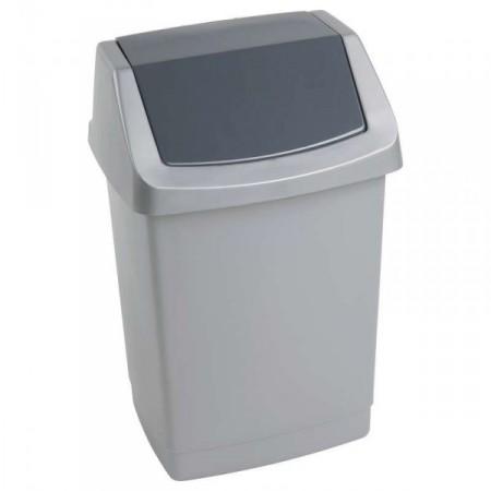 Hranatý odpadkový koš plastový 9l