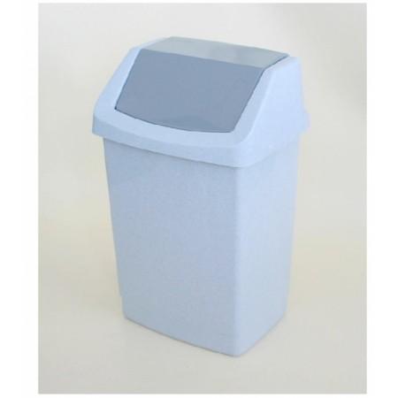 Klasický odpadkový koš s výklopným víkem 25 l, šedý