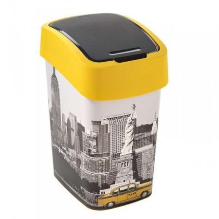 Designový odpadkový koš s potiskem NEW YORK, 25 l