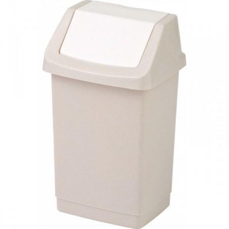 Klasický odpadkový koš s víkem 9 l, krémový