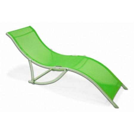 Elegantní ergonomické zahradní lehátko - zelené