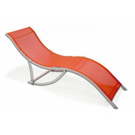 Relaxační ergonomické skládací lehátko - oranžové