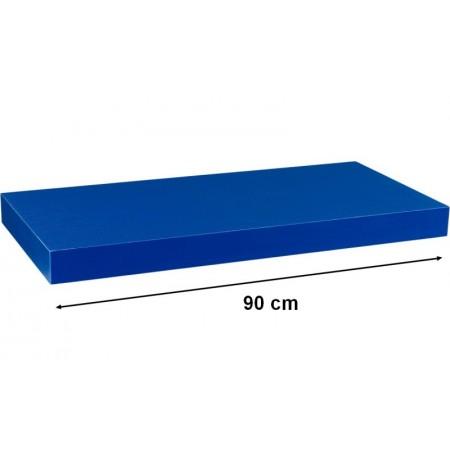 Moderní nástěnná police modrá, 90 cm