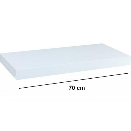 Moderní nástěnná police bílá, 70 cm