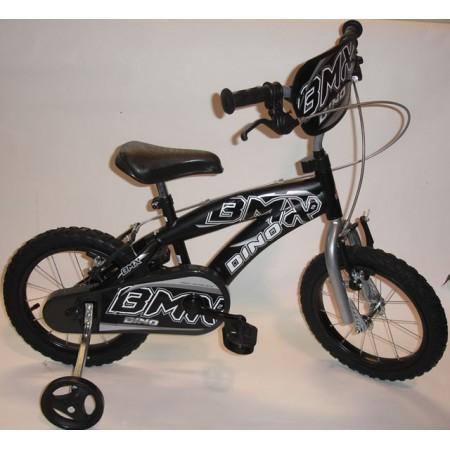 Dětské kolo BMX s přídavnými kolečky, ocelové ráfky 14