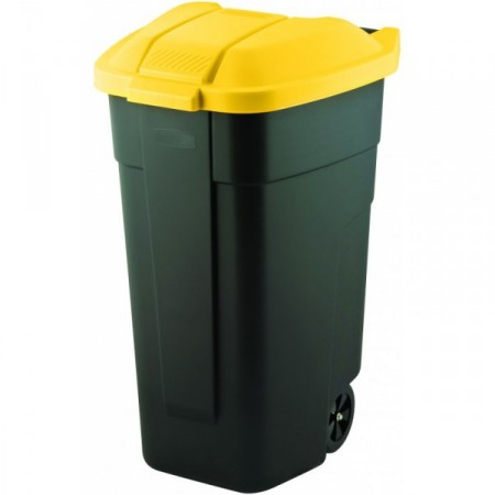 Plastová popelnice na odpadky 110 l, s kolečky