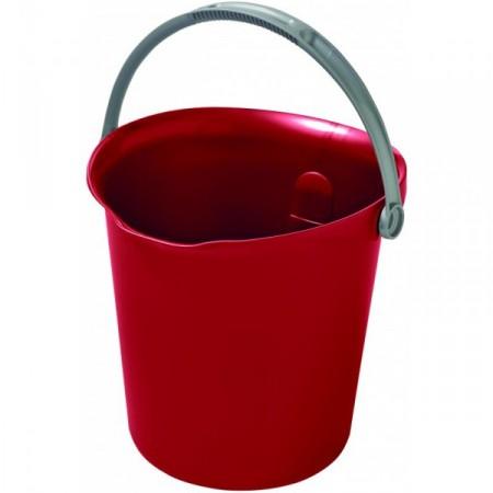Plastový kbelík s držadlem 9 l, červený