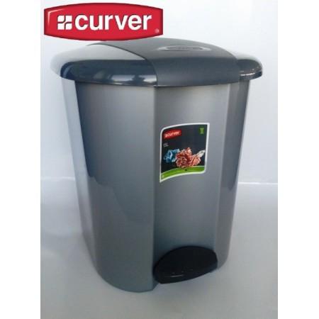 Nášlapný odpadkový koš 15 l, šedý