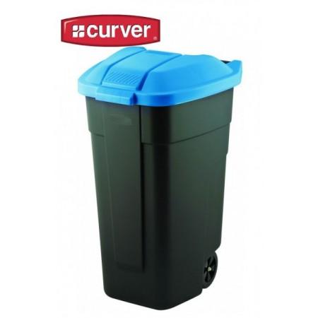 Plastová popelnice 110 l s víkem a kolečky