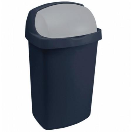 Odpadkový koš se zasouvacím víkem 25 l, modrý